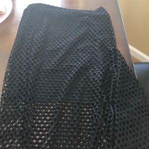 FISH NET BLACK DRESS